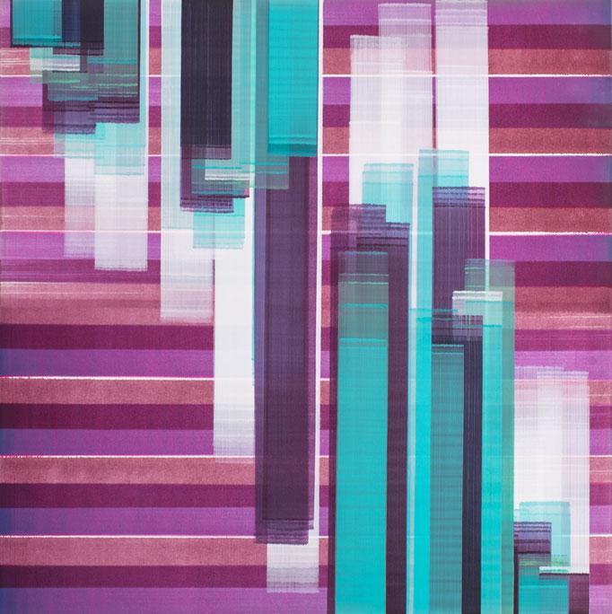 Elisabeth Sonneck, dia move3/1, 2019, Öl auf Leinwand, 145 x 145 cm