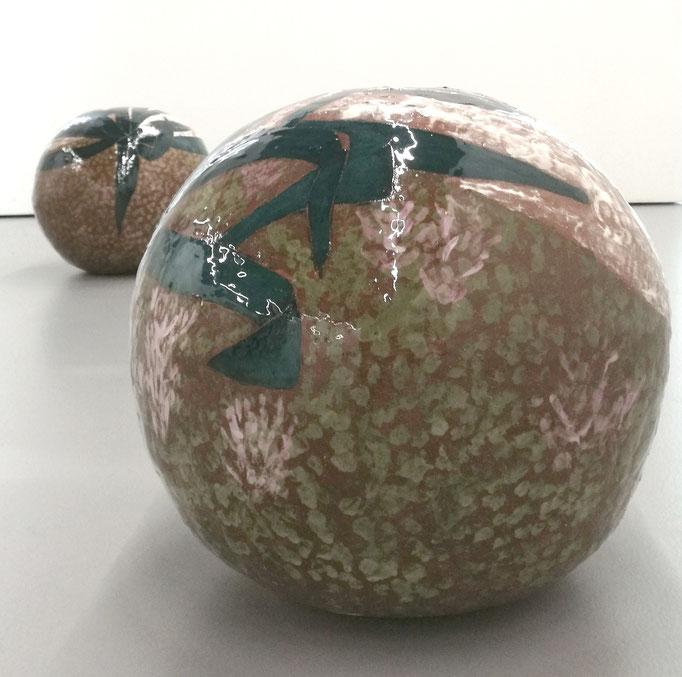 Oktavia Schreiner, Entsprechnung, Keramik, 2x 40 x 40 x 40 cm / sold