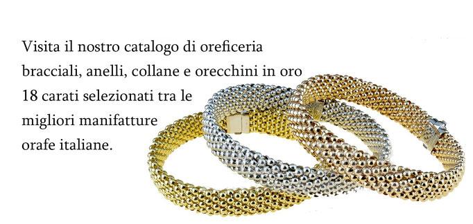 Gioielleria Istanti di Gioia Collane, Bracciale e Anelli in Oro.
