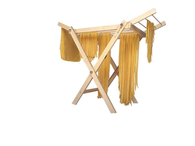 Stendi pasta in legno pieghevole