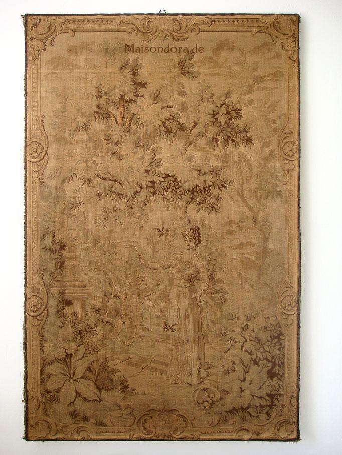 Antiker Gobelin Wandbild Textil Handarbeit