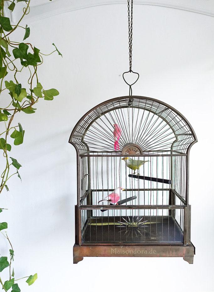 Art Deco Vogelkäfig Vogelbauer Kupfer