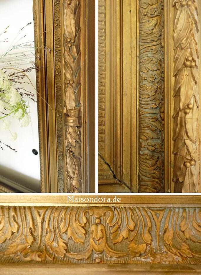 Antiker Stuck Rahmen vergoldet Frankreich Shabby Boheme