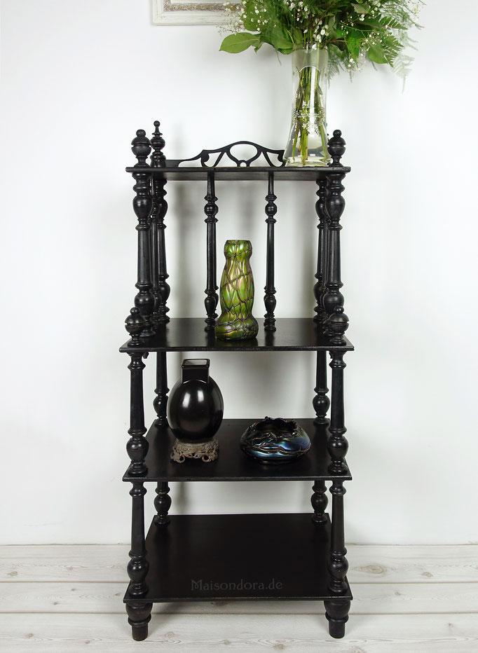 Antikes Regal Napoleon III Säulenregal Heritage schwarz