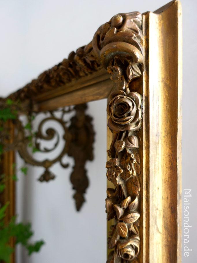Antiker Rahmen Stuckrahmen Frankreich Shabby Boheme