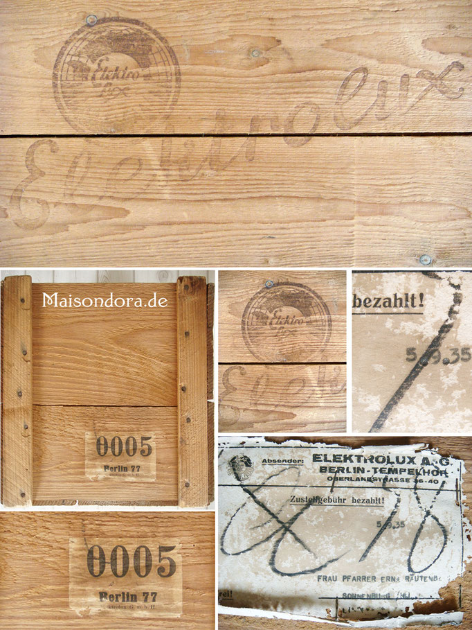 Vintage Holz Kiste Elekrolux