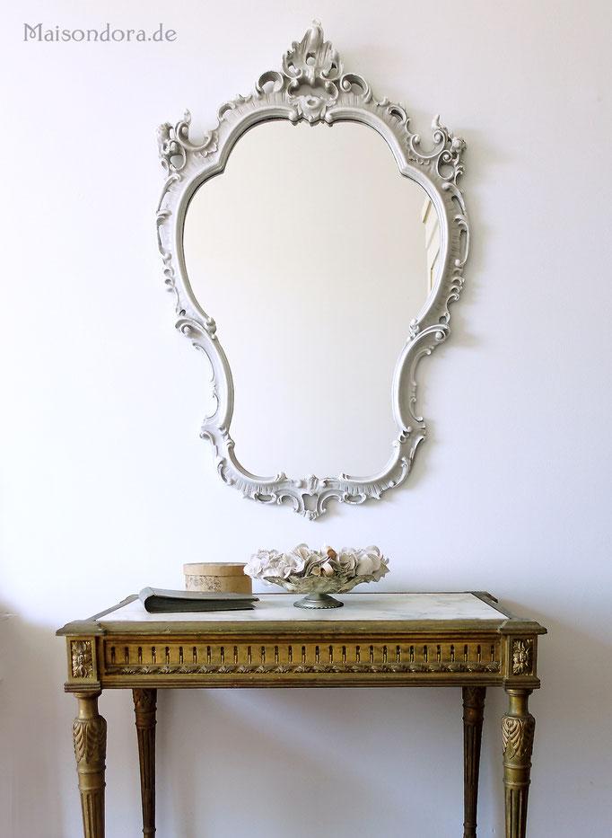 Florentiner Spiegel Vintage Shabby grau