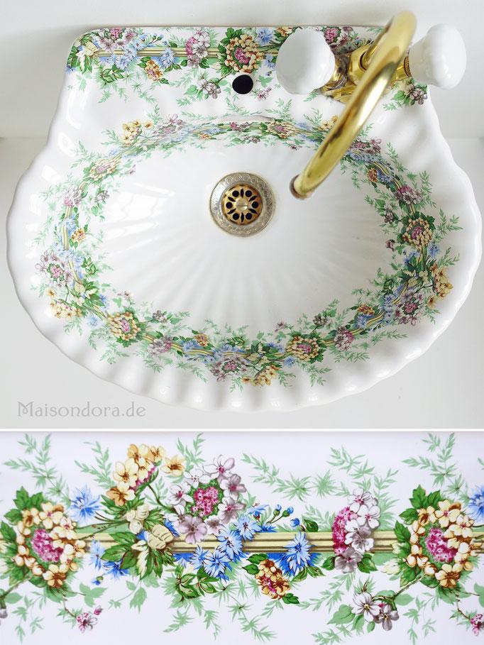 Vintage Waschbecken Porcellaine de Paris