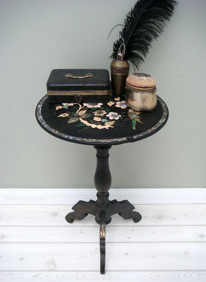 Antiker Tisch Napoleon III Reisetisch