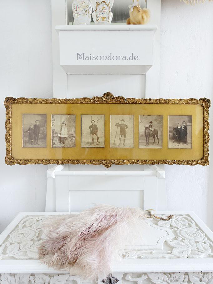 Antiker Rahmen Goldpassepartout 1880 - 1900