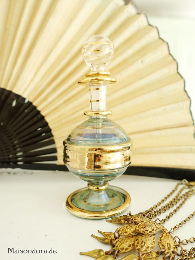 Antiker Parfüm Flakon Glas Lauscha