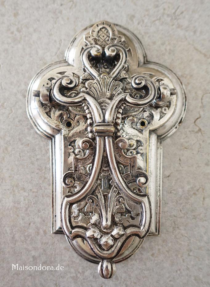 Viktorianischer Türklopfer antik versilbert