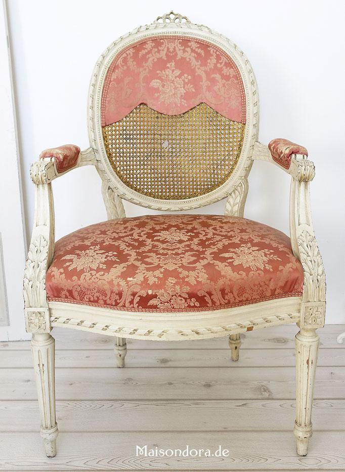 Antiker Louis Seize Herren Sessel Armlehnstuhl