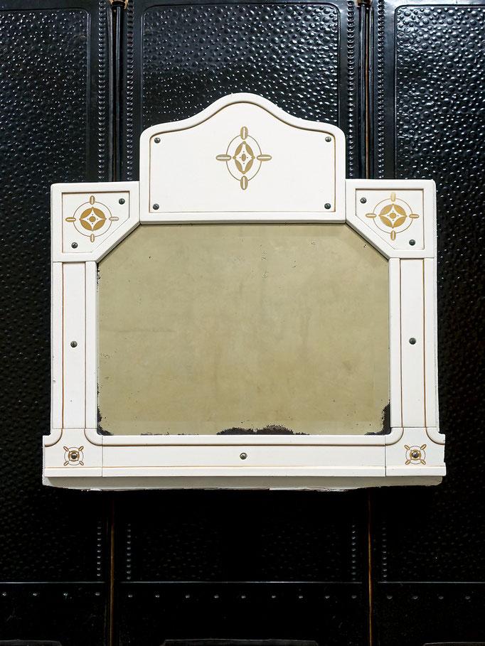 Jugendstil Spiegel mit Porzellan-Rahmen 1910