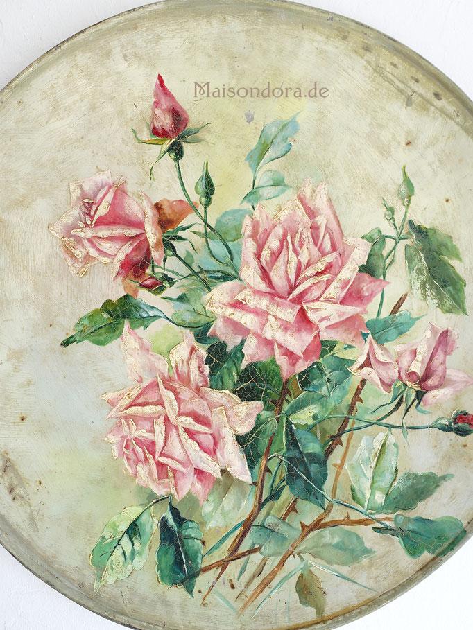 Antike Fassmalerei Rosen Jugendstil Shabby Chic