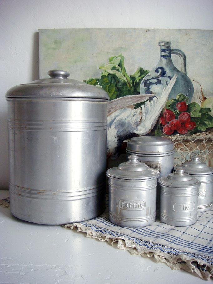 Vintage Vorratsdose Metallblech Alu