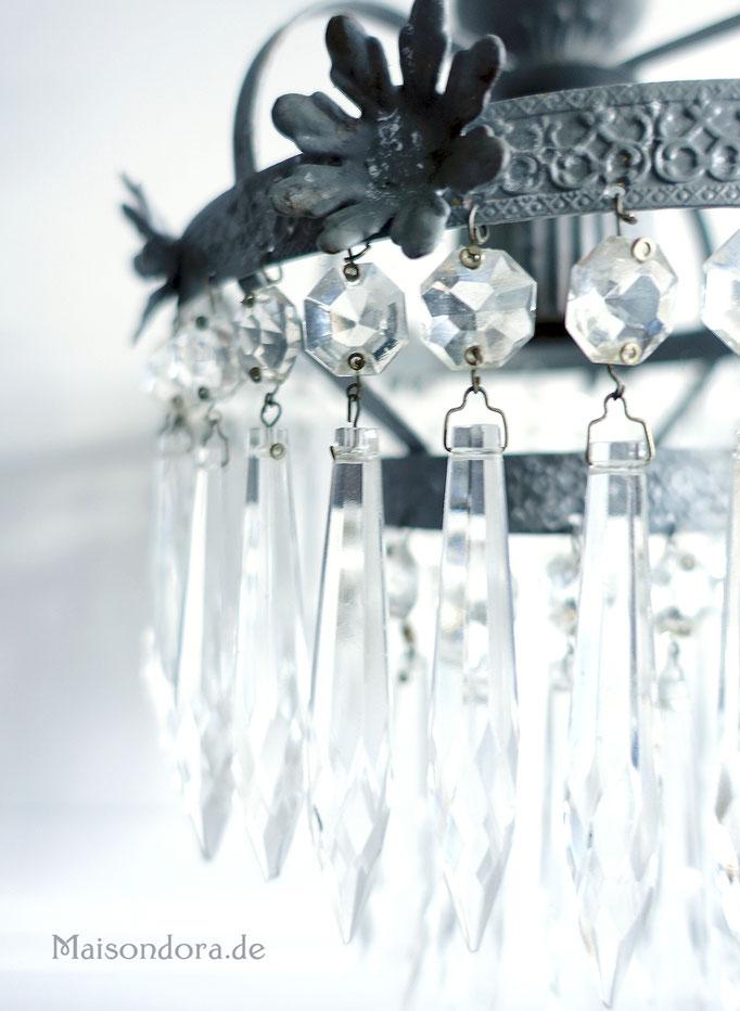Antike Lampe Leuchter Kronleuchter Kristall