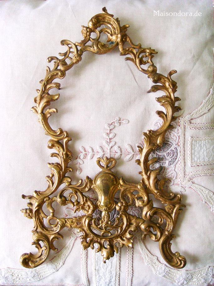 Antike Rokoko Uhrenblende feuervergoldet Messing