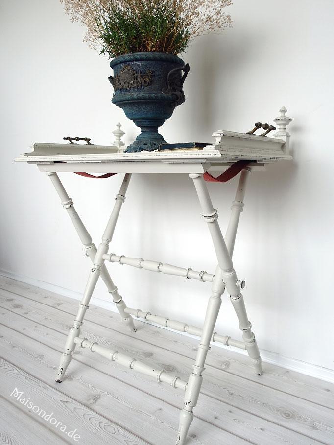 Antiker Klapptisch Tablett Tisch Historismus Shabby Landhaus