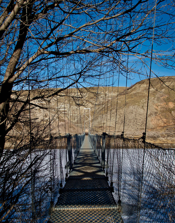 Star Mine Suspension Bridge - Drumheller - Alberta - Canada - Swhitdream