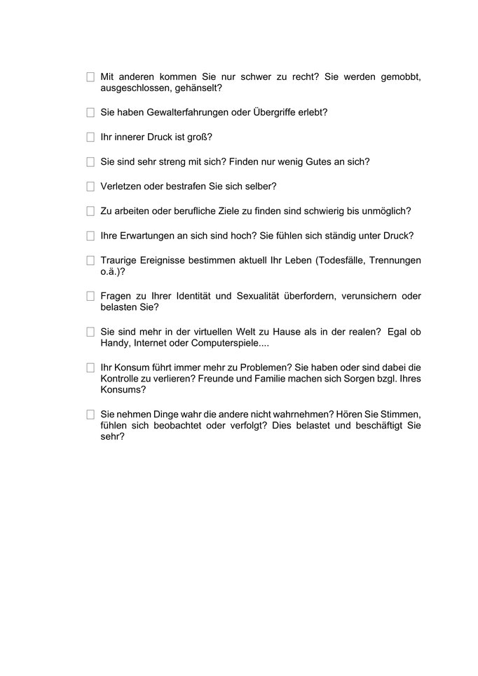 Checkliste Seite 2