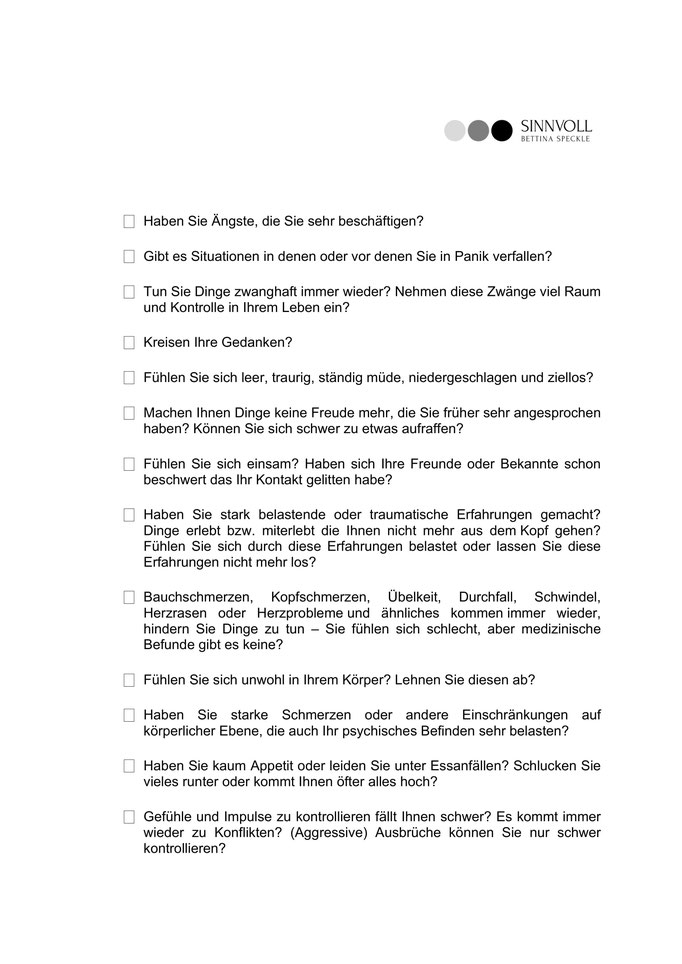 Checkliste Seite 1