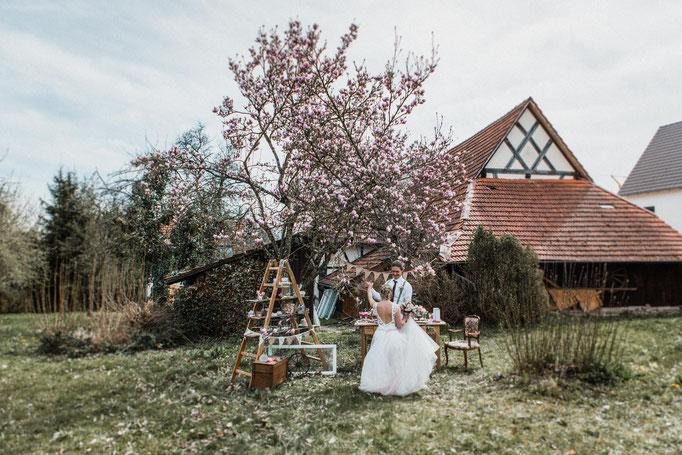 romatisches Brautkleid