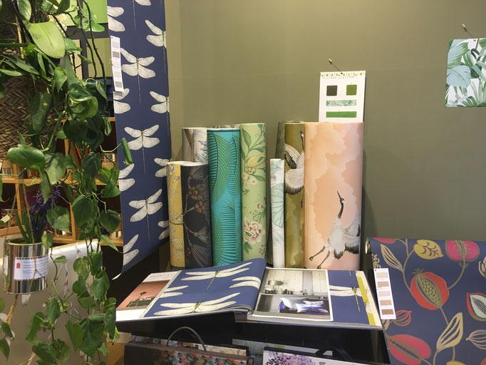 marie saiki papier peint villefranche beaujolais lyon masureel zoffany harlequin casamance