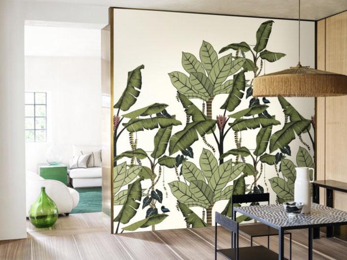 marie saiki papier peint villefranche beaujolais lyon panoramique jungle vert  panoramas casamance