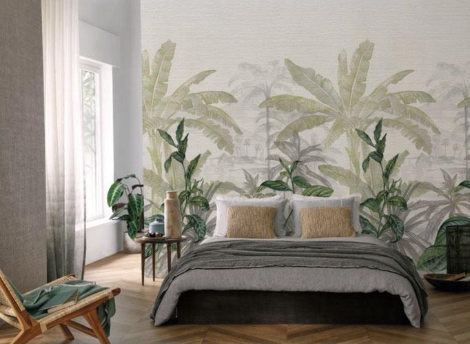 marie saiki papier peint villefranche beaujolais lyon jungle vert oléas panoramique panoramas oléas casamances