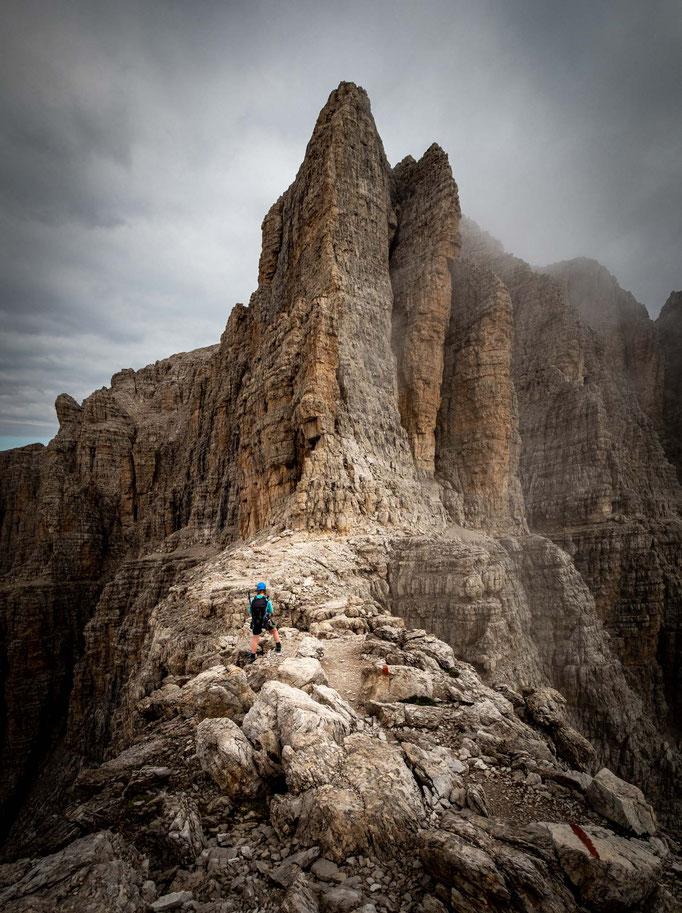 Bocchetta della Valazza pass with Cima Brenta in the background