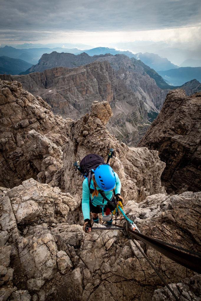 The last push onto the Bocchetta della Valazza pass