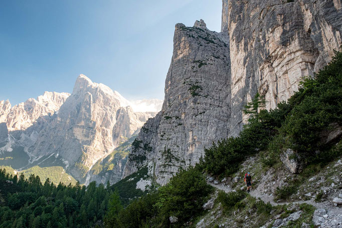 The views on the ascent to Forcella del Camp on Alta Via 1