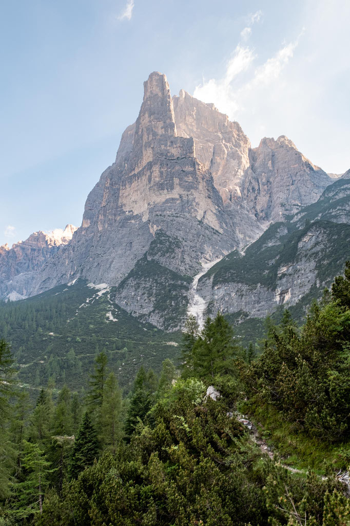 Dramatic views of the Civetta-Moiazza massif on day 8 of Alta Via 1