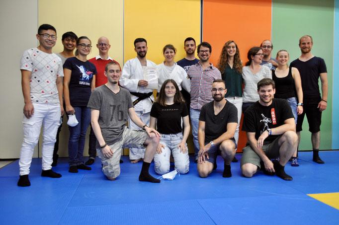 Judo Team Regensdorf unterstützt Cristian Rizzello bei seiner Judo Schwarzgurtpürfung.