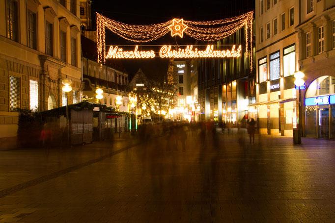 Heiligabend in der Fußgängerzone, Dezember 2015