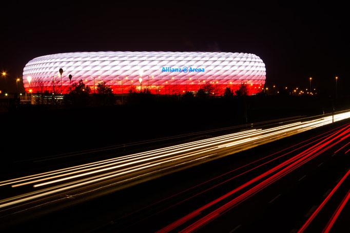 Die Münchener Allianz-Arena, Oktober 2015