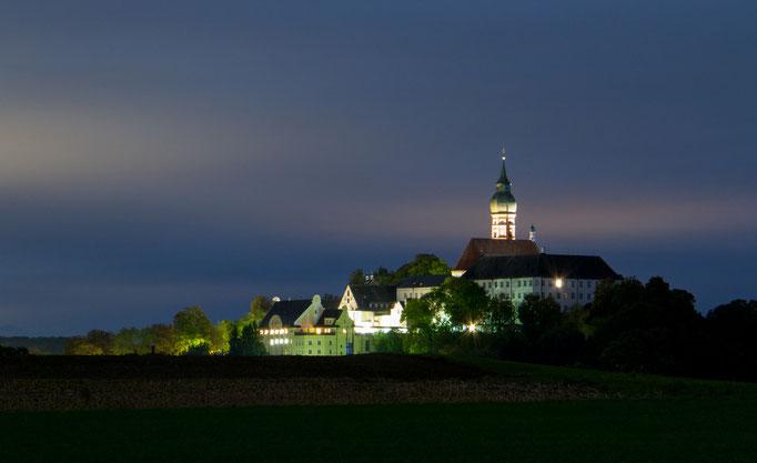 Nacht am Kloster Andechs, Oktober 2016