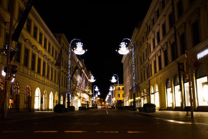 Blick in die Brienner Straße, Dezember 2015