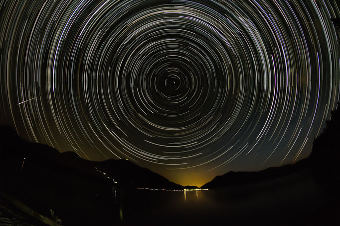 Startrails am Walchensee, August 2015