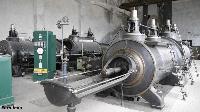 Östliche Maschine von Schacht 2, die Maschine war noch bis 2008 in Betrieb