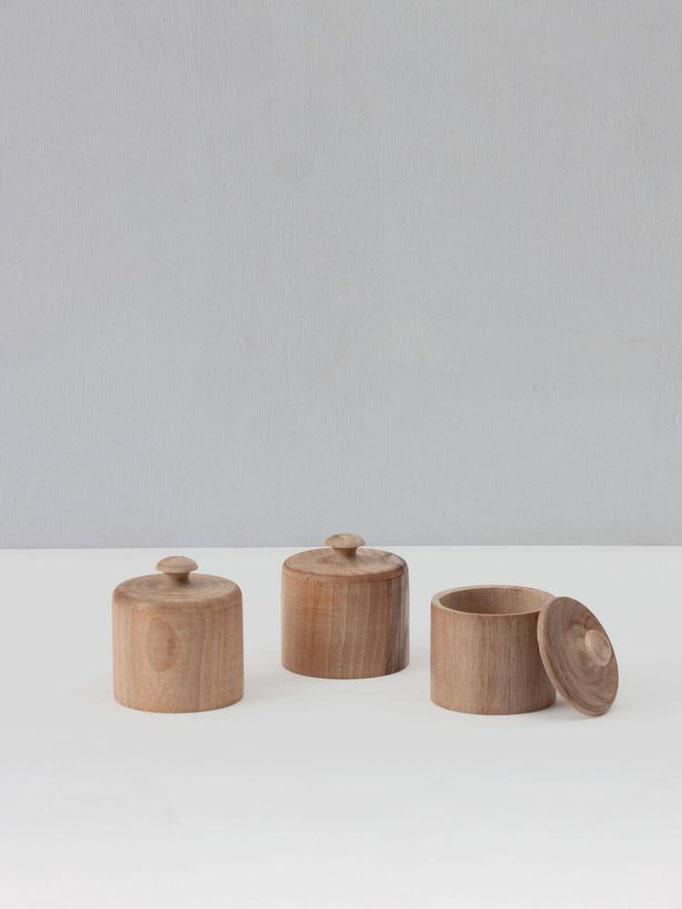 Walnusholz-Töpfe für Minimalisen