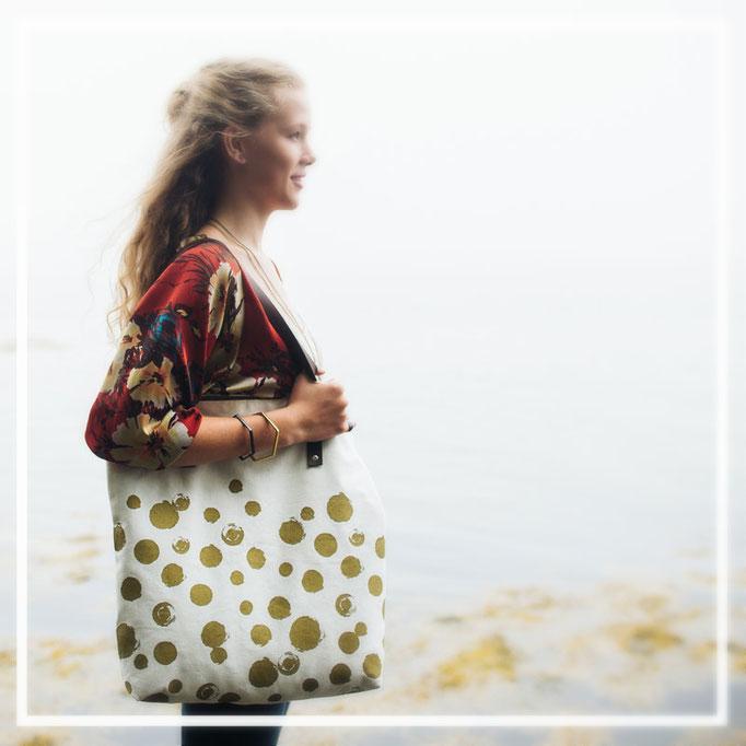 Handbedruckte Taschen aus Nepal