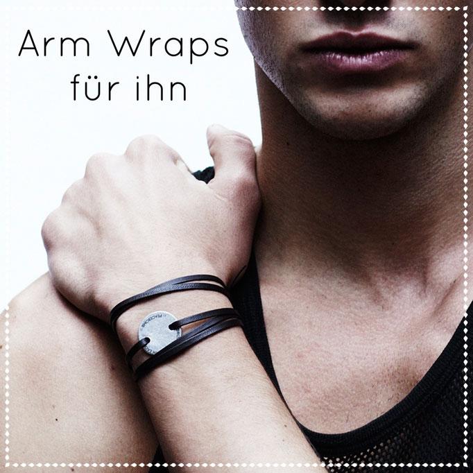 Armwraps für den Mann aus feinem Leder