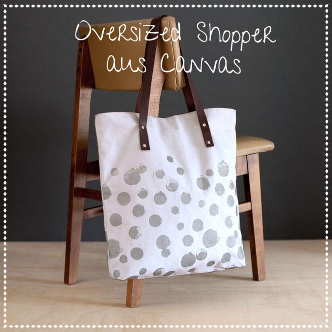 Oversize Bags aus Canvas und Leder