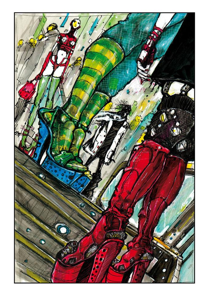 #19# Planche originale T-2 La Chrysalide  en vente http://www.galerienapoleon.com/