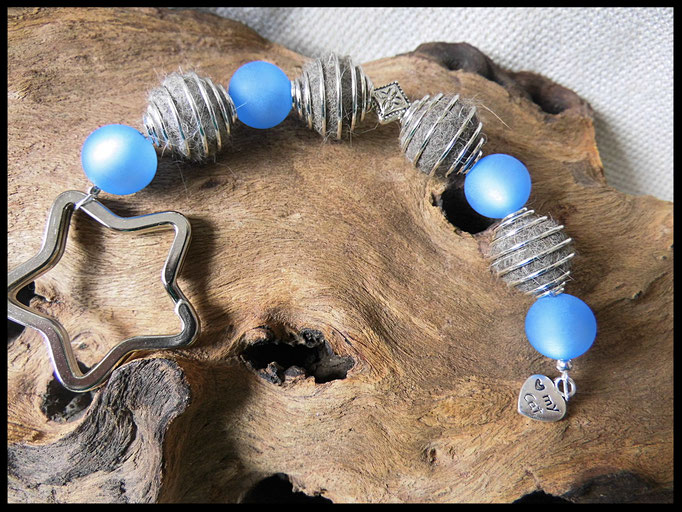 Bild 25: Fellperlen in silbernen Perlenkäfige und Polarisperlen gefertigt. Preis: 28 Euro