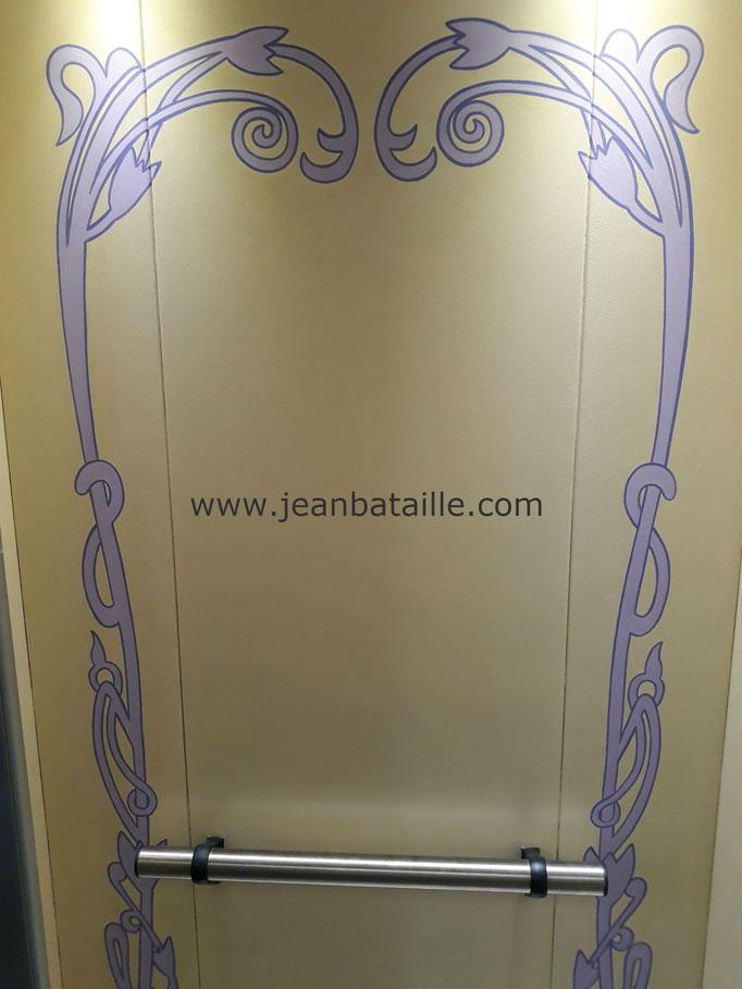 Frise décorative art nouveau en acrylique