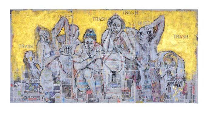 Trashqueens,150x300 cm