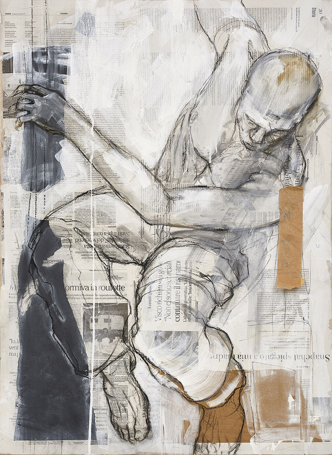 Stürzende, 100 x 70 cm, 2018; Foto: M. Eckstein